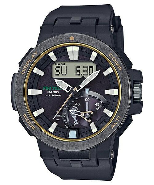 CASIO PROTREK PRW-7000-1B 多功能高階登山雙顯電波腕錶/52mm