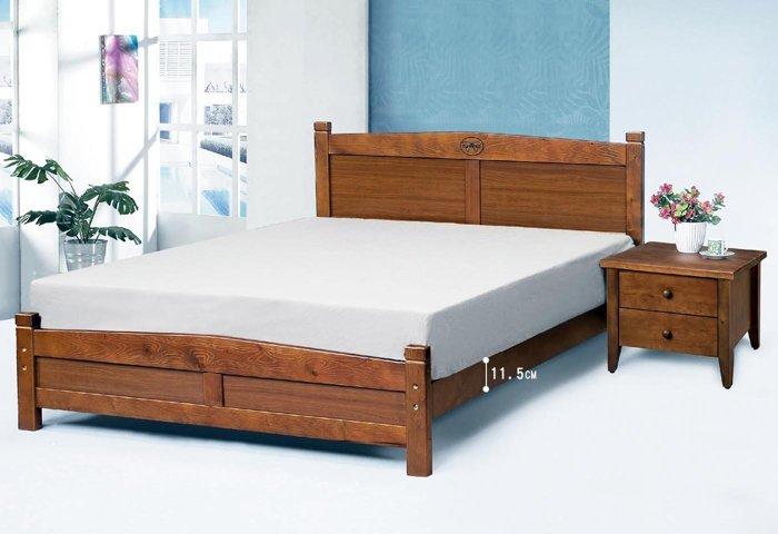 【石川家居】SN-11-5 瑪莉5尺實木雙人床架 (不含其他商品) 台中到高雄搭配車趟免運