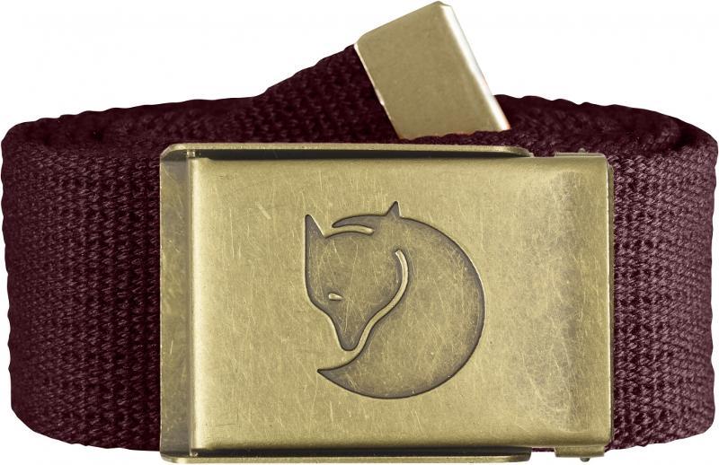 Fjallraven 瑞典北極狐 帆布腰帶/皮帶/軍裝腰帶 Canvas Brass 77297-356 深榴紅 黃銅色扣