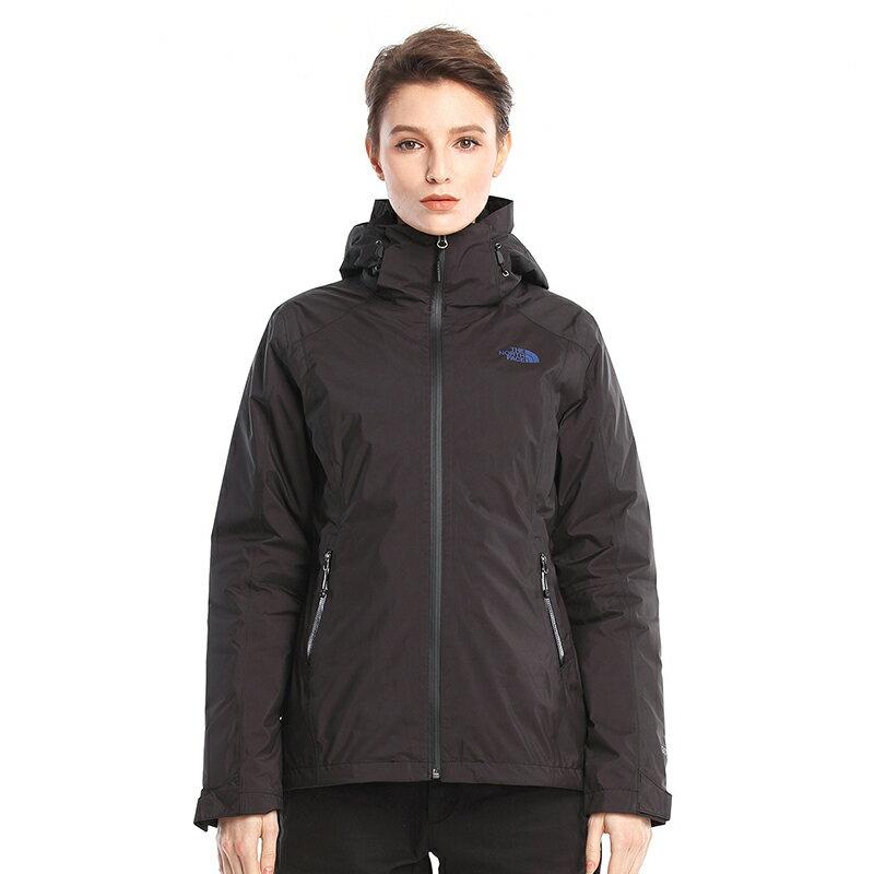 川山岳海 [ THE NORTH FACE ]  女 GORE-TEX 羽絨兩件式外套 ZIP-IN  黑 /  公司貨 NF0A3KTP7GF