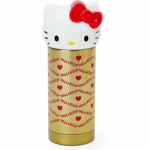 【真愛日本】15101300019 立體造型不鏽鋼瓶-愛心紅金 三麗鷗 Hello Kitty 凱蒂貓 水壺 茶壺 水瓶