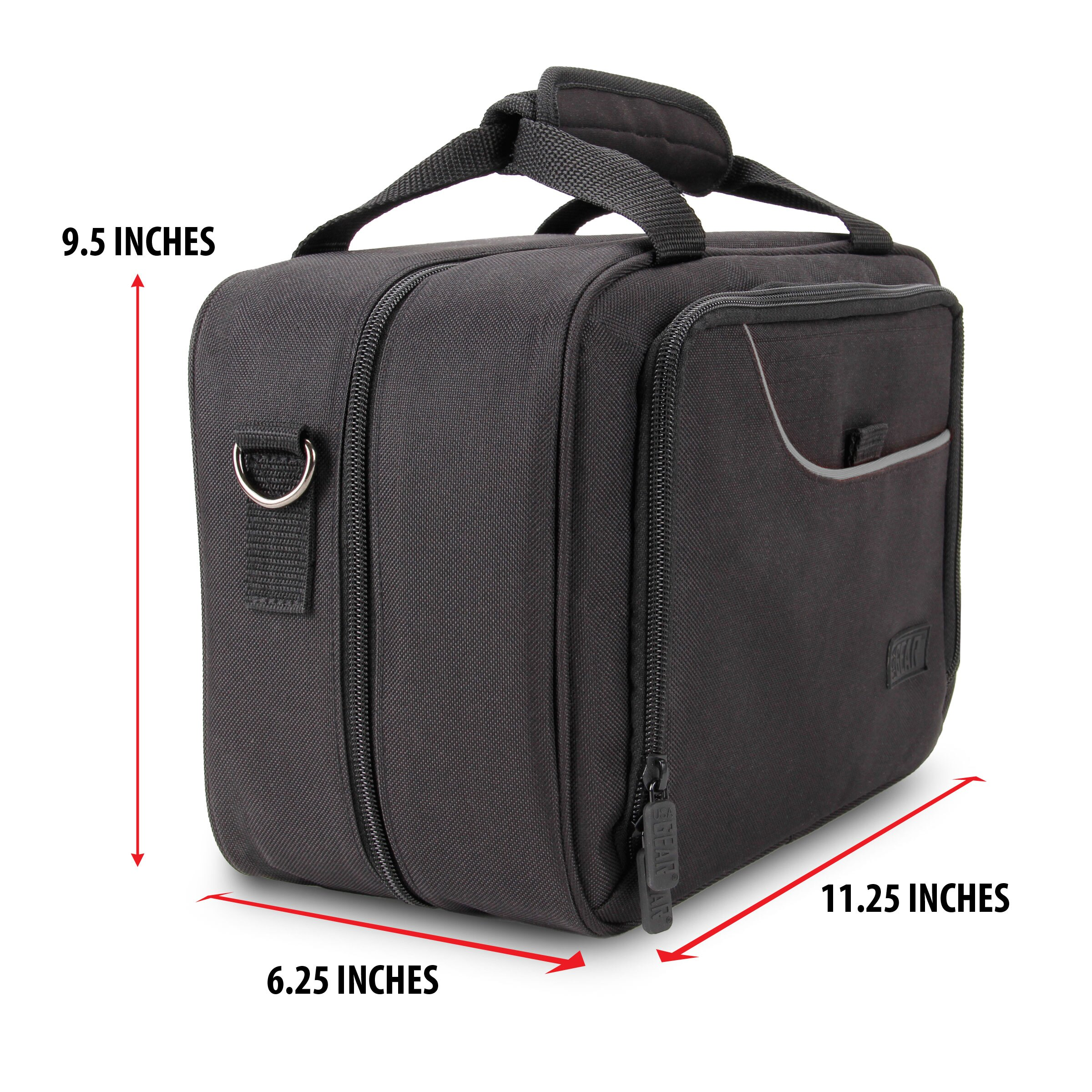 USA Gear Carrying Case Bag for DJI Spark Mini with Shoulder Strap and Accessory Pockets 6