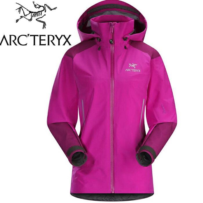 Arcteryx 始祖鳥 登山風雨衣/防水透氣GTX外套 16237 Beta AR 女 Gore-Tex Pro 桃紅蘿蘭酒
