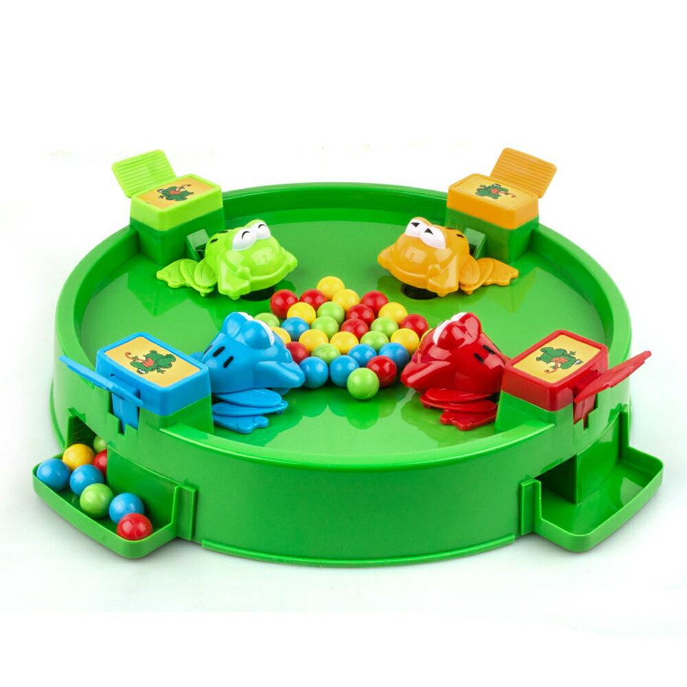免運 青蛙吃豆玩具大號益智搶珠三人多人親子互動啟蒙桌面玩具