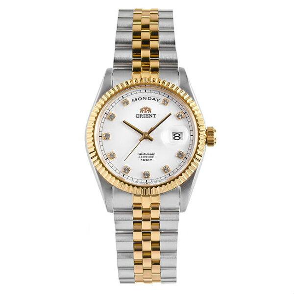 ORIENT東方錶WILDCALENDAR系列(SEV0J002W)蠔式型機械錶鋼帶款白色36.5mm