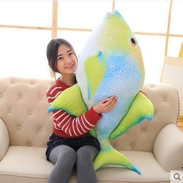 3D印花創意海底世界熱帶魚毛絨仿真玩偶Eb14985『小美日記』