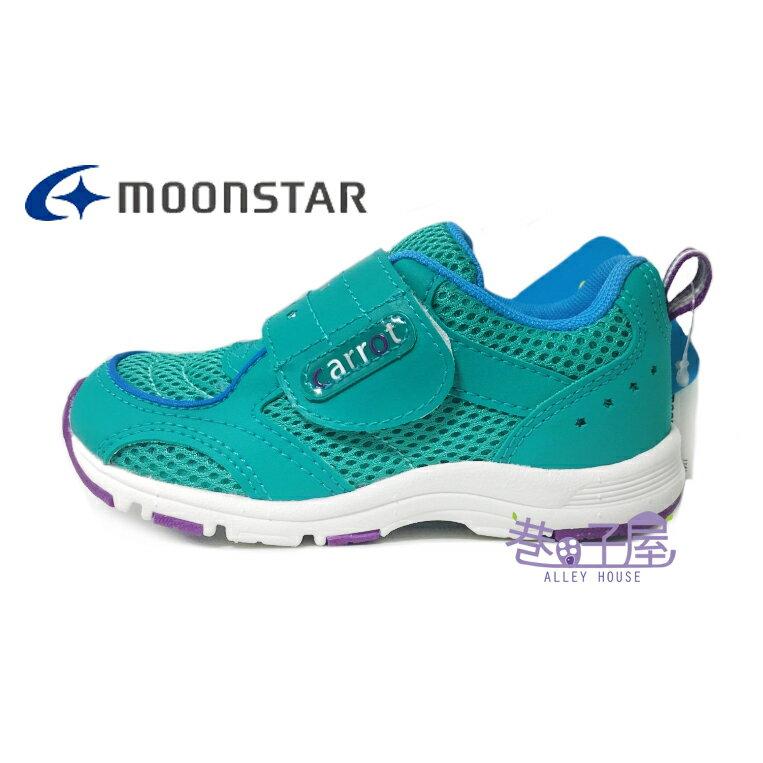 ~巷子屋~Moonstar月星 童款CARROT健康機能 慢跑鞋  21501  綠 價