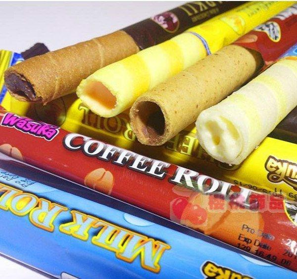 WasukaDeka巧克力起司咖啡爆漿威化捲心酥(單支入)【櫻桃飾品】【24247】