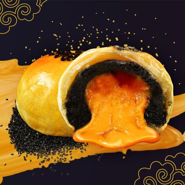 拿破崙 流沙黑芝麻蛋黃酥(6入/盒)【拿破崙餅舖】香濃黑芝麻★新生代大人氣口味