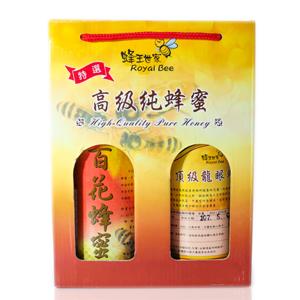 【蜂王世家】頂級龍眼蜂蜜(750g)+百花蜂蜜(800g)現省300元