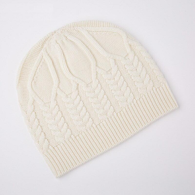 毛帽羊毛針織帽-純色麻花加厚護耳男帽子3色73wj42【獨家進口】【米蘭精品】 1