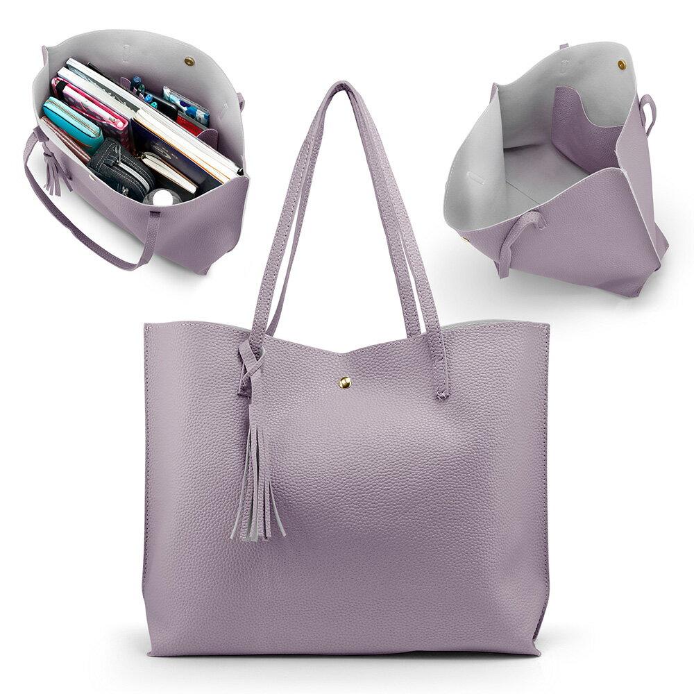 Women Tote Bag Tassels Leather Shoulder Handbags Fashion Ladies Purses Satchel Messenger Bags 8