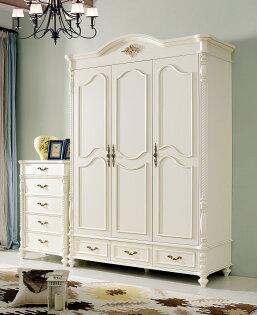 【尚品家具】HY-A18-01蘇菲亞法式5.5尺三門衣櫃~另有6.5尺