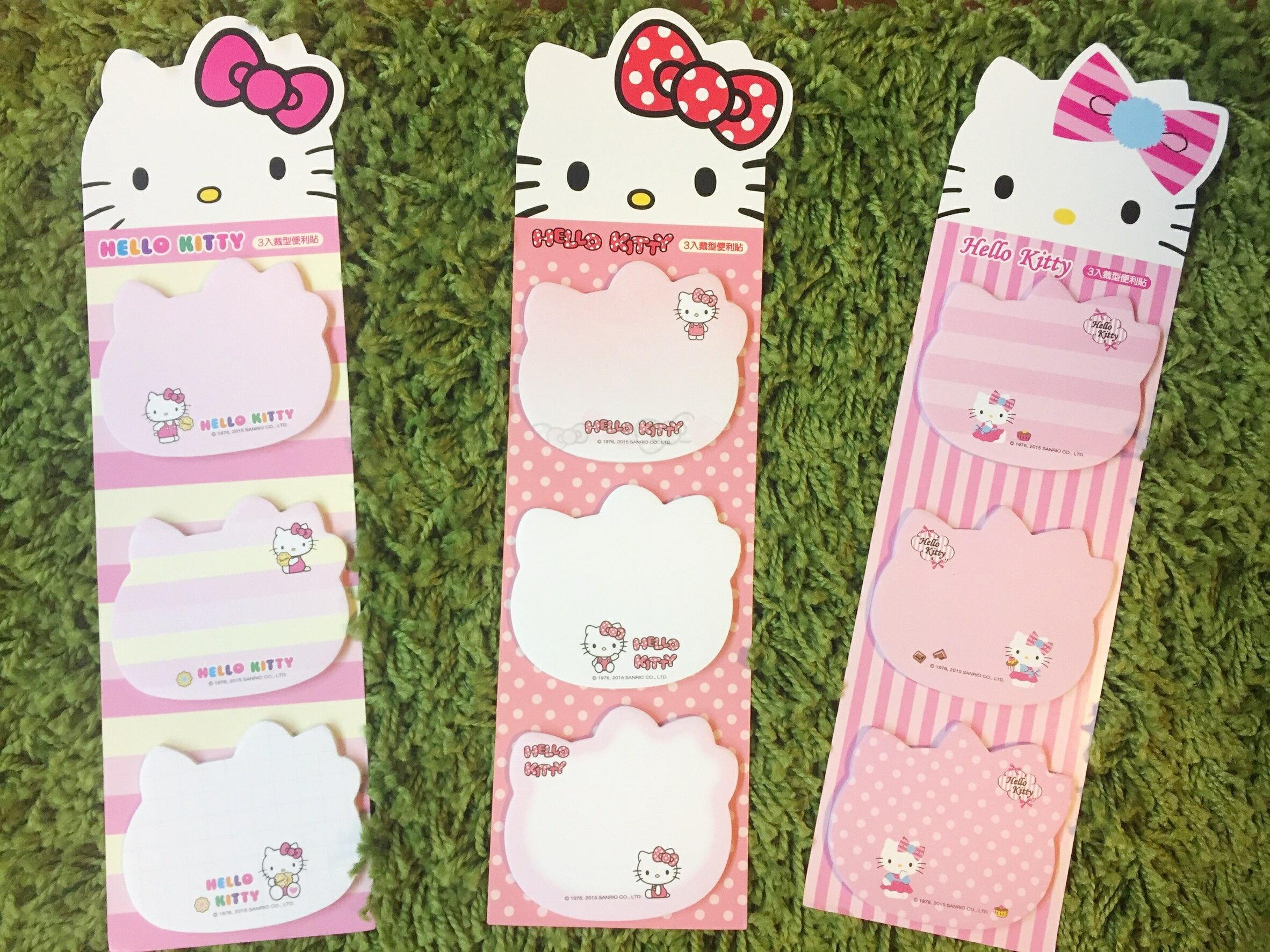 【真愛日本】16041500002KT3入臉型便條貼-三款 三麗鷗 Hello Kitty 凱蒂貓  便利貼 便條紙 文具