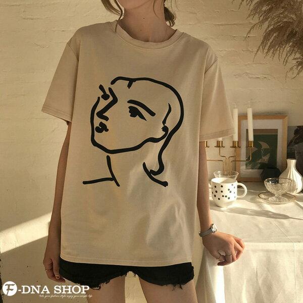 F-DNA★極簡印象派女王圓領短袖上衣T恤(2色-均碼)【ET12701】 3