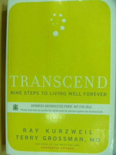 ~書寶 書T6/原文小說_ZKW~Transcend Nine Steps to Livi