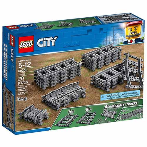 樂高積木LEGO《 LT60205》2018 年 CITY 城市系列 - 軌道和彎道