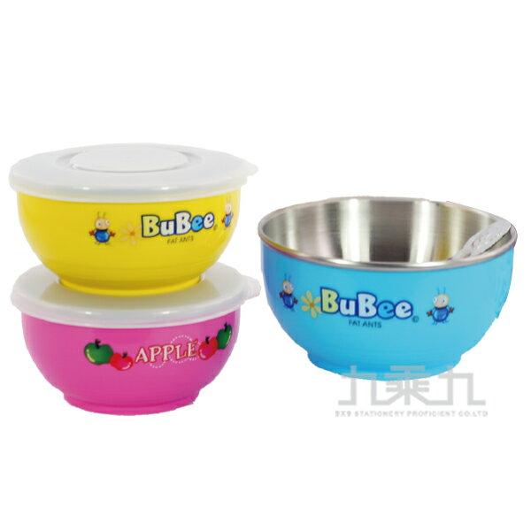 豆豆316雙層碗(附匙)塑蓋11.5cm Y-235S(顏色隨機出貨)
