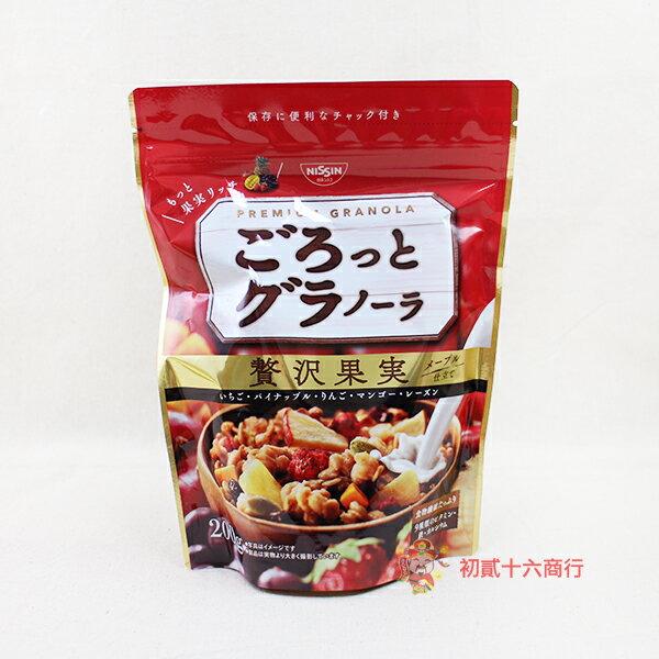 ~0216零食會社~ 日清~榖物奢侈果實麥片200g~即期 ~ ~  好康折扣