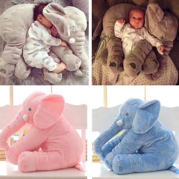 Plush Baby Soft Elephant Sleep Pillow Large Stuffed Animal Doll Kids Toys 2