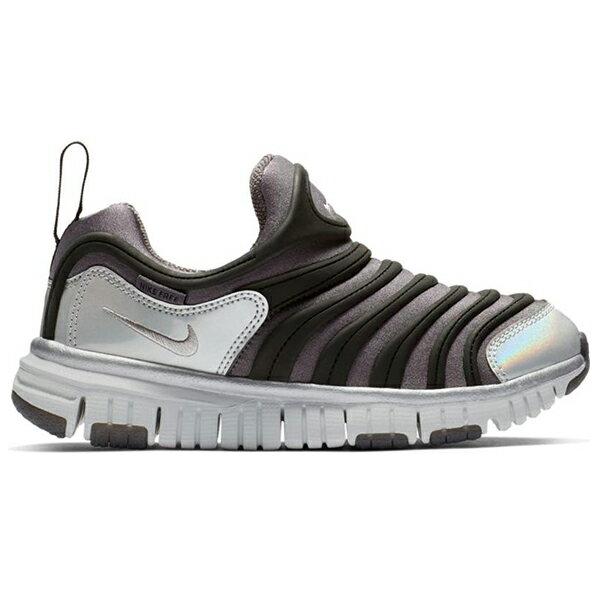 Shoestw【BQ7105-001】NIKE DYNAMO FREE 童鞋 毛毛蟲 中童鞋 黑灰銀 可凹折 0