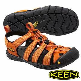 Keen Clearwater CNX 男 輕量護趾水陸兩用鞋 橘 1012862