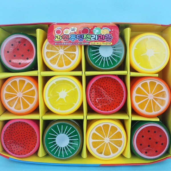 小水果水晶土 水果珠光水晶泥(不沾手)/一袋12個入{促15} 童玩黏黏土YF13662
