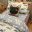 Blue cat 藍貓【床包藍底白三角形】單人/雙人熱賣組   舒適磨毛布 台灣製造 0