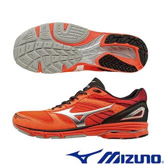 J1GA168103(橘X銀X黑) WAVE AMULET 7 支撐型路跑鞋 A【美津濃MIZUNO】