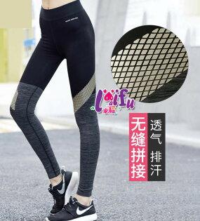 來福:來福褲子,B328運動褲撞色美俏貼身九分褲速乾運動褲健身褲瑜珈褲子正品,單褲售價649元
