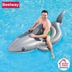 【歡樂家庭零售批發網】歐洲Bestway 酷炫大白鯊充氣動物坐騎 / 充氣坐騎 / 水上坐騎 / 泳圈 / 浮排 / 戲水玩具 / 泳池派對 / 沙灘海灘 (41097)