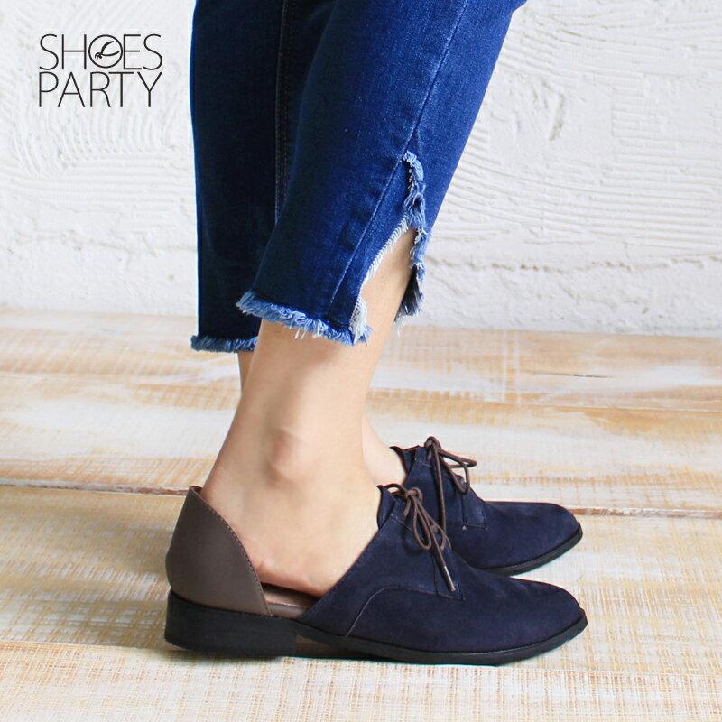 【C2-17813L】簍空真皮德比鞋_Shoes Party 2