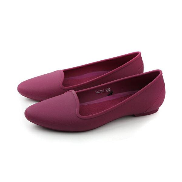 Crocs 平底鞋 紫色 女鞋 no346