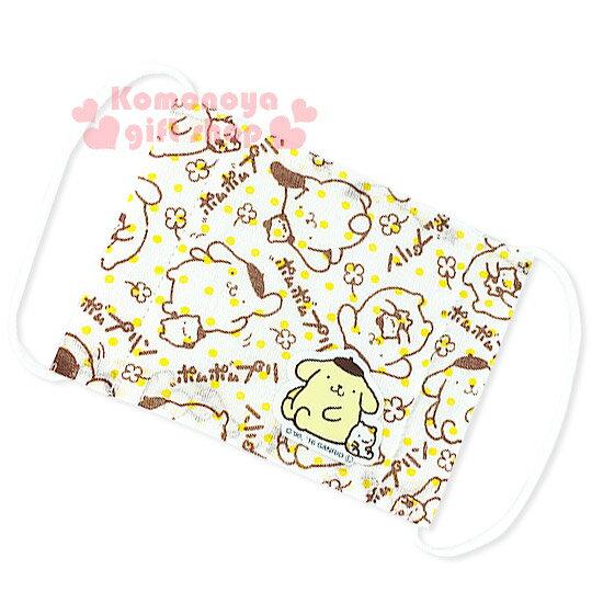 〔小禮堂〕布丁狗 兒童平面紗布口罩《白.多動作.點點.棕線條》感冒對策用品