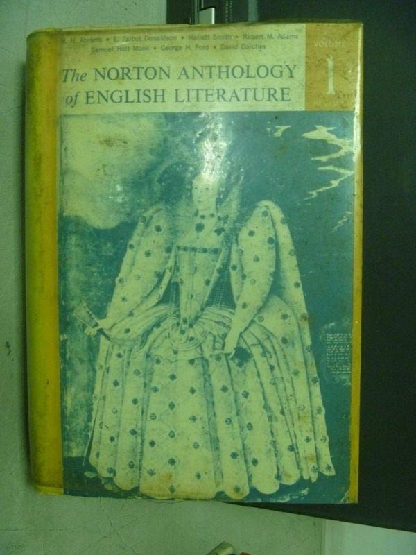 【書寶二手書T3/原文小說_KSV】The Norton Anthology of English…_民60