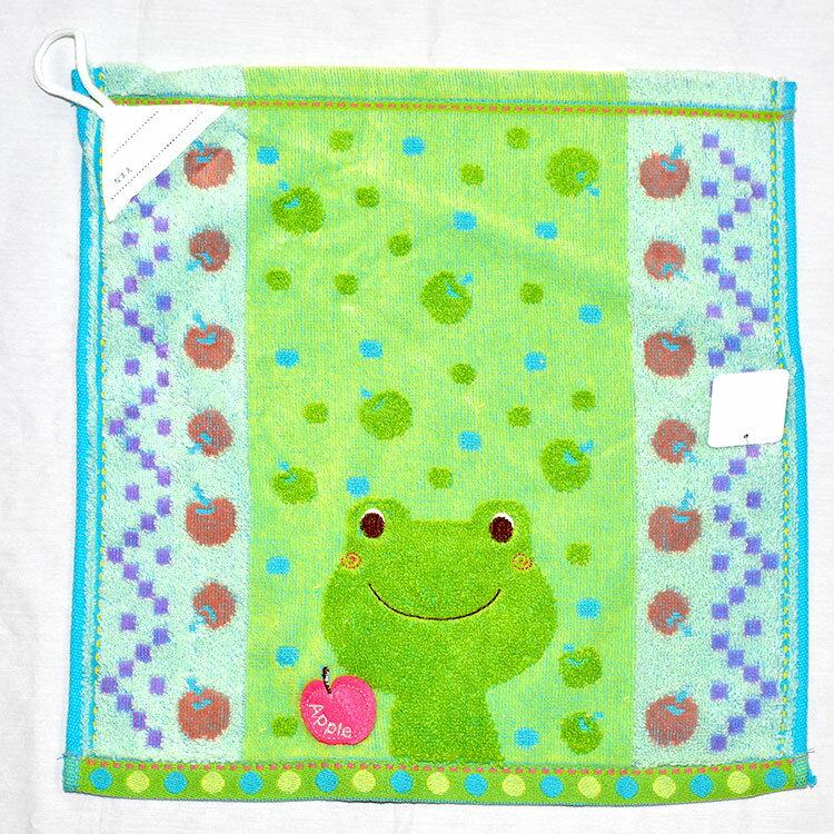 小青蛙 大擦手巾 立體剪裁 日本帶回正版商品 100%綿 抗菌防臭