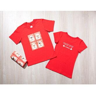 毛小孩是家人 動保有機棉T恤 100%有機棉 舒適休閒版 潮流腰身版 不離不棄 挺挺網絡 (紅T)