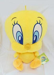 X射線【C030682】崔弟Tweety14吋玩偶-藍色大眼,絨毛填充玩偶玩具公仔抱枕靠枕娃娃