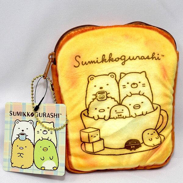 NOBA 不只是禮品:角落精靈角落生物吐司拉鍊包錢包手拿包化妝包日本帶回正版商品SAN-X