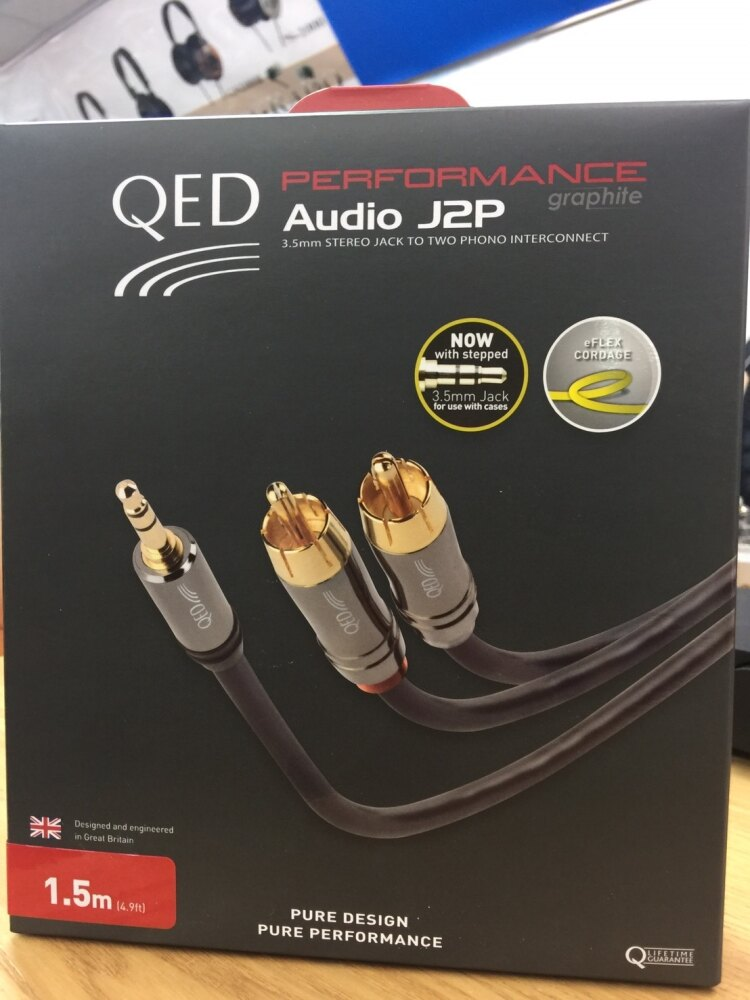 <br/><br/>  QED Performance J2P Graphite 系列 3M QE6500 3.5 對2RCA<br/><br/>