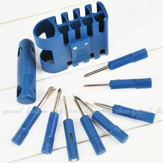 八合一組合小工具 隨身起子組 8入 螺絲起子組 釘拔 測電筆【DA457】◎123便利屋◎