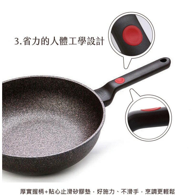 韓國 Chef Topf 崗石系列耐磨不沾煎鍋 28 公分/韓國製造/不沾鍋/洗碗機用/耐用崗石/方鍋 5