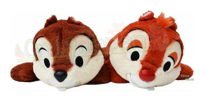 【真愛日本】19012900002 樂園限定趴姿棉柔娃組-奇奇蒂蒂 花栗鼠 松鼠 東京迪士尼樂園帶回  日本帶回