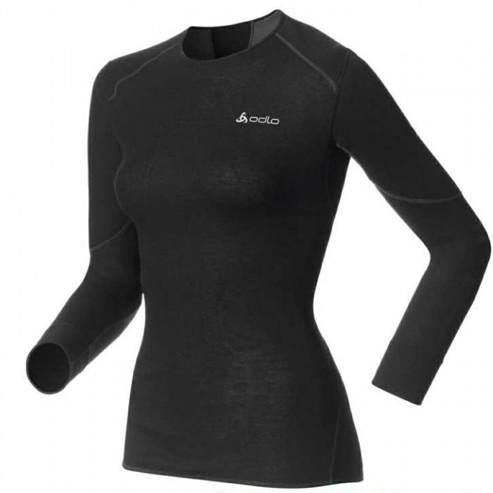 【【蘋果戶外】】odlo 155161 女 背部加強保暖 黑『送polartec手套』X-WARM Effect 保暖升級 女機能型銀離子 長袖排汗衣 保暖衣 衛生衣