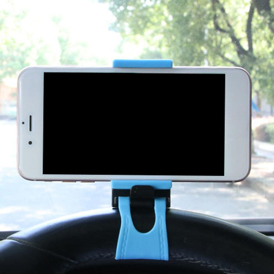 Car Steering Wheel Phone GPS Stand Clip Rubber 3