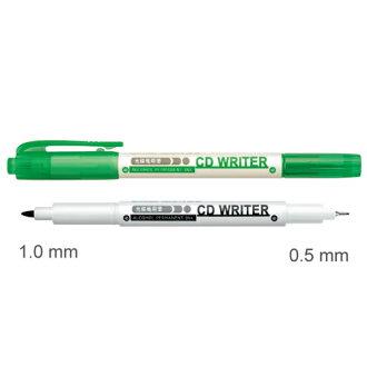 【雄獅】 CD30綠1.0/0.5mm雙頭萬用光碟筆