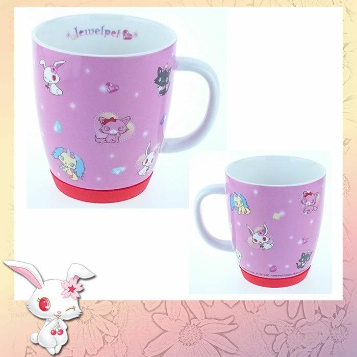 特價Jewelpet寵物寶石 辦公室家用 陶瓷陶磁 馬克杯 水杯 防滑矽膠底 日本進口正版 032682