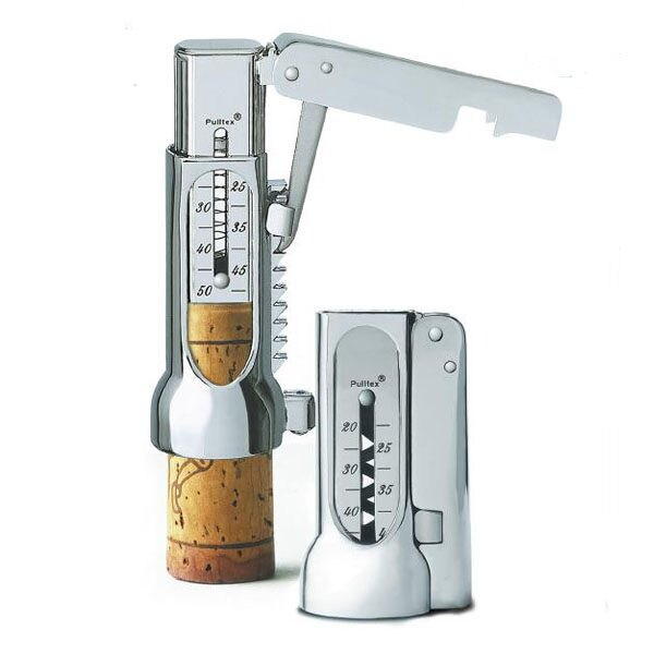 【西班牙Pulltex普德斯 】握壓式開瓶器組Brucart (附原廠皮套與精美金屬禮盒組) / 開瓶器 / 酒器