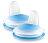 英國【PHILIPS AVENT】魔術防漏吸嘴配件(企鵝水杯專用)藍/粉 1