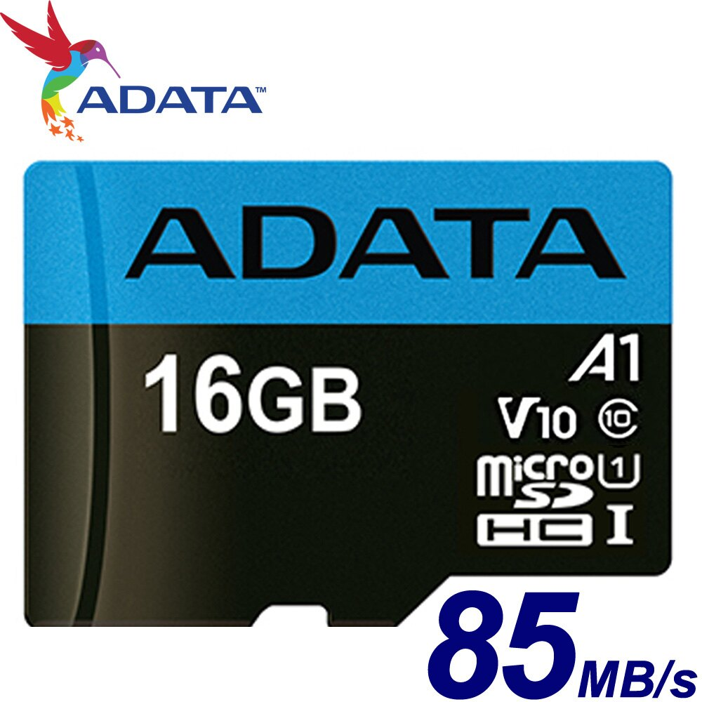 ADATA 威剛 16GB 85MB/s microSDHC TF UHS-I U1 V10 A1 記憶卡